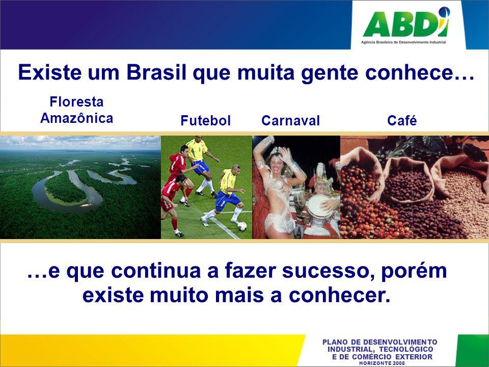 PLANO DE DESENVOLVIMENTO INDUSTRIAL, TECNOLÓGICO E DE COMÉRCIO EXTERIOR HORIZONTE 2008 Existe um Brasil que muita gente conhece… Floresta Amazônica Fu