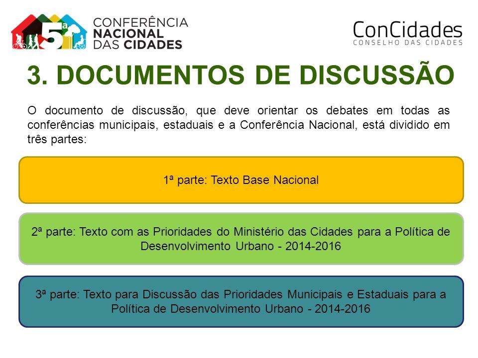 O documento de discussão, que deve orientar os debates em todas as conferências municipais, estaduais e a Conferência Nacional, está dividido em três
