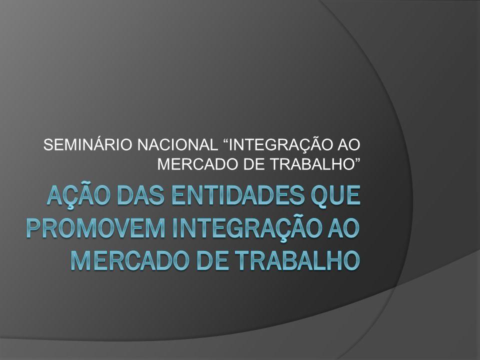SEMINÁRIO NACIONAL INTEGRAÇÃO AO MERCADO DE TRABALHO