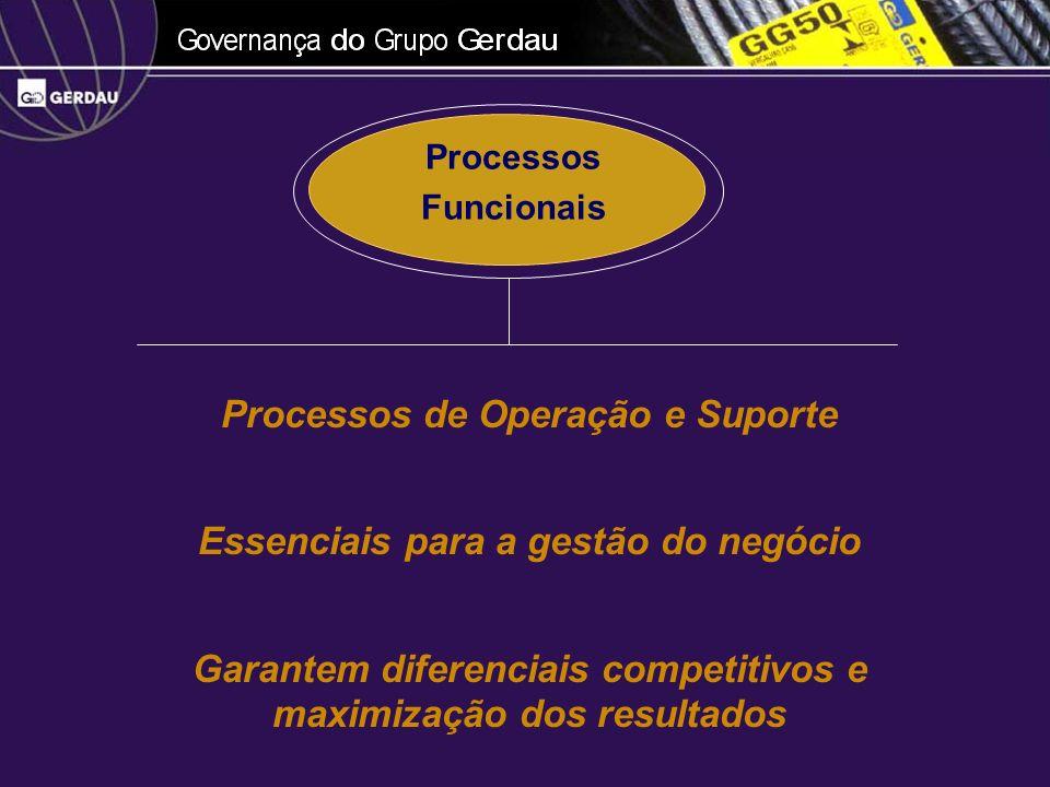 Processos de Operação e Suporte Essenciais para a gestão do negócio Garantem diferenciais competitivos e maximização dos resultados Processos Funciona