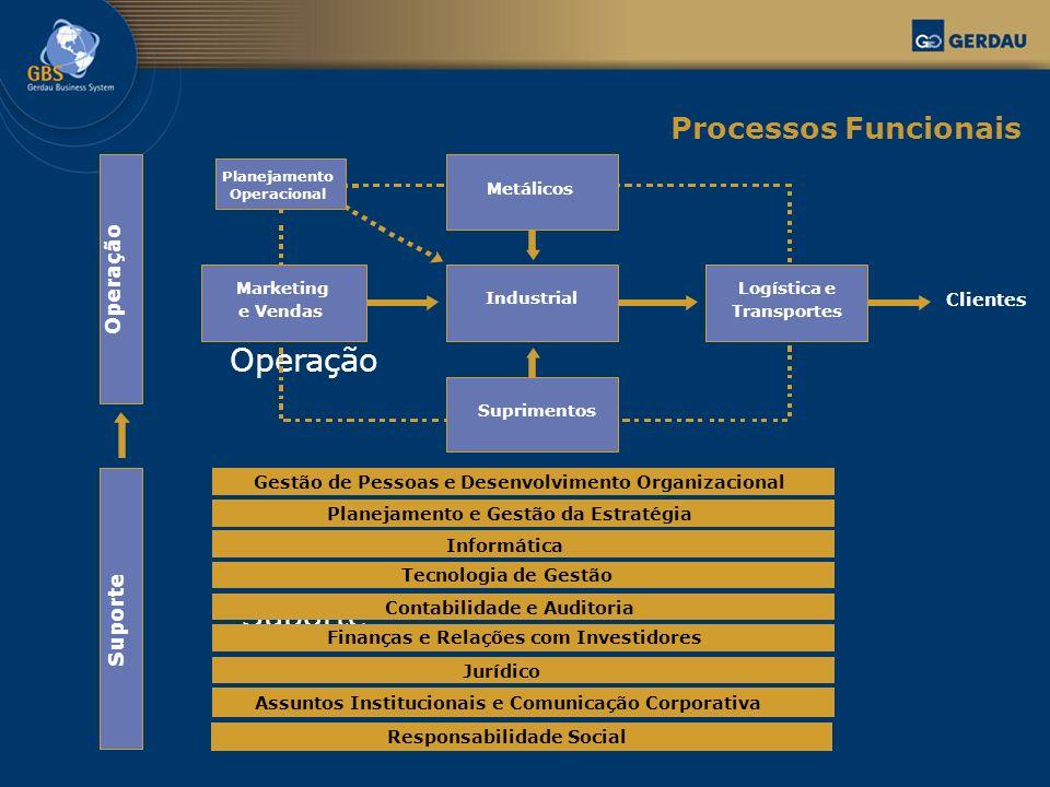Operação Suporte Gestão de Pessoas e Desenvolvimento Organizacional Planejamento e Gestão da Estratégia Informática Tecnologia de Gestão Contabilidade