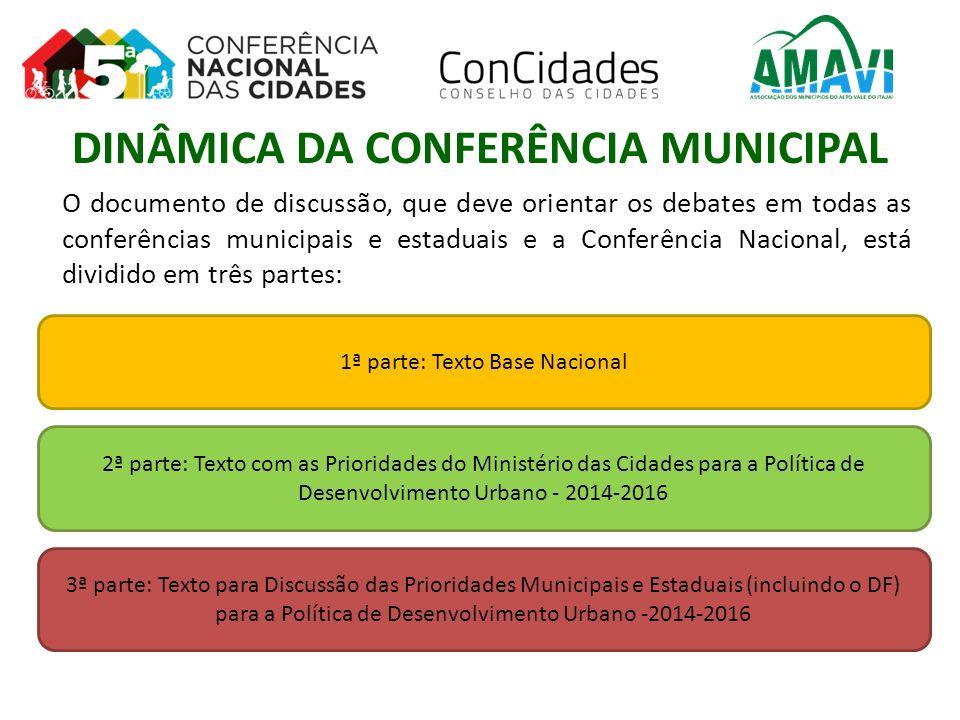 O documento de discussão, que deve orientar os debates em todas as conferências municipais e estaduais e a Conferência Nacional, está dividido em três