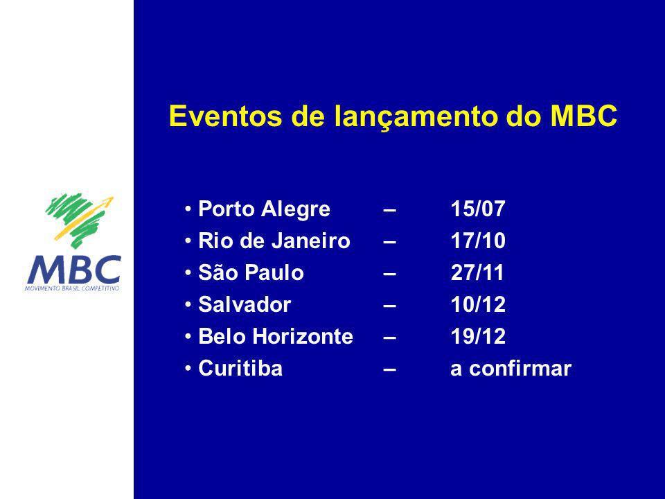 Porto Alegre – 15/07 Rio de Janeiro – 17/10 São Paulo – 27/11 Salvador – 10/12 Belo Horizonte – 19/12 Curitiba – a confirmar Eventos de lançamento do