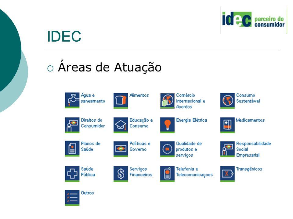 IDEC Áreas de Atuação IDEC