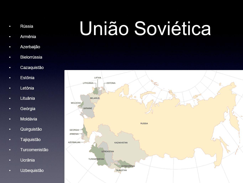 União Soviética Rússia Armênia Azerbaijão Bielorrússia Cazaquistão Estônia Letônia Lituânia Geórgia Moldávia Quirguistão Tajiquistão Turcomenistão Ucr