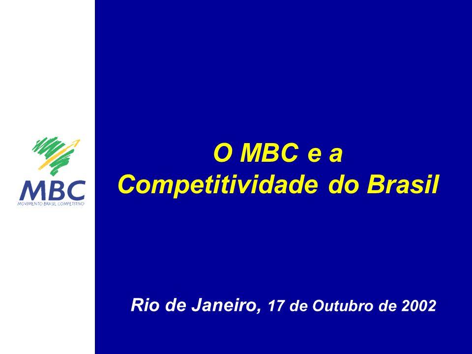 O MBC e a Competitividade do Brasil Rio de Janeiro, 17 de Outubro de 2002