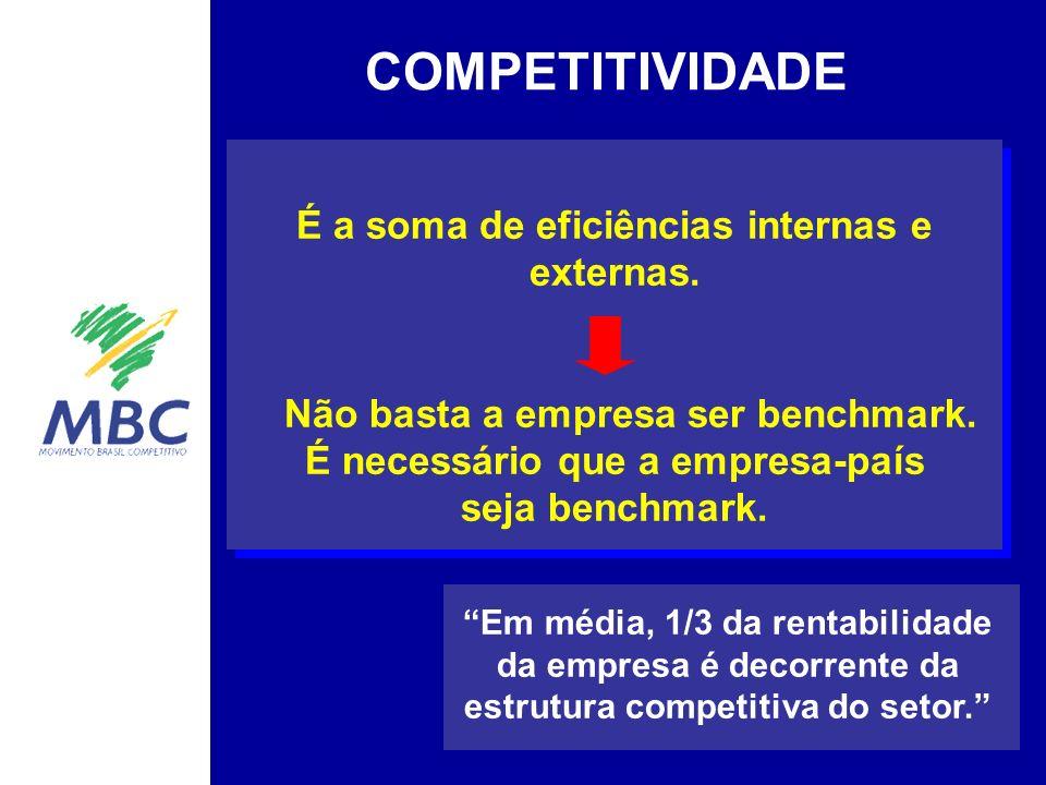 Em média, 1/3 da rentabilidade da empresa é decorrente da estrutura competitiva do setor.
