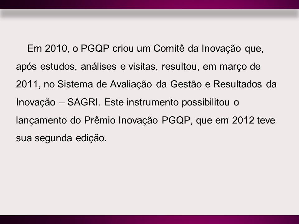 Em 2010, o PGQP criou um Comitê da Inovação que, após estudos, análises e visitas, resultou, em março de 2011, no Sistema de Avaliação da Gestão e Res