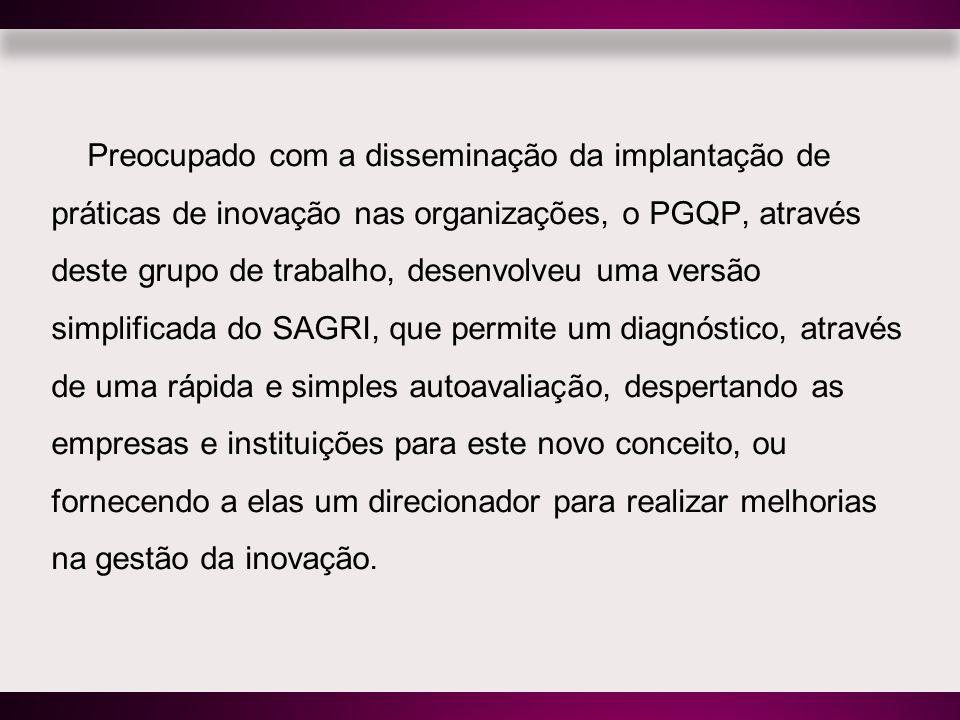 Preocupado com a disseminação da implantação de práticas de inovação nas organizações, o PGQP, através deste grupo de trabalho, desenvolveu uma versão