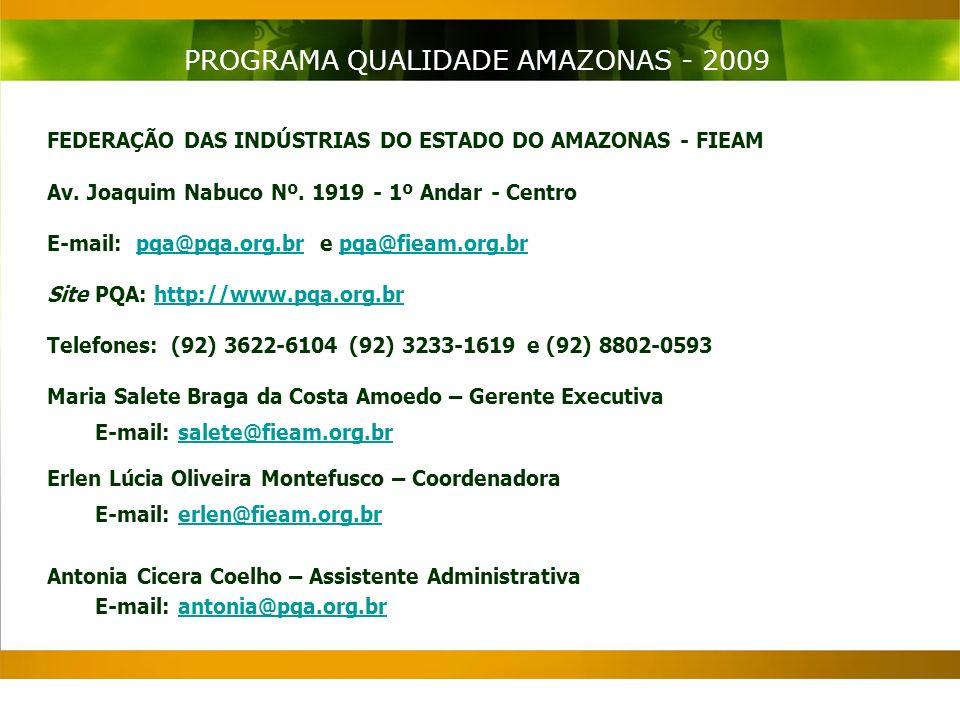 FEDERAÇÃO DAS INDÚSTRIAS DO ESTADO DO AMAZONAS - FIEAM Av.
