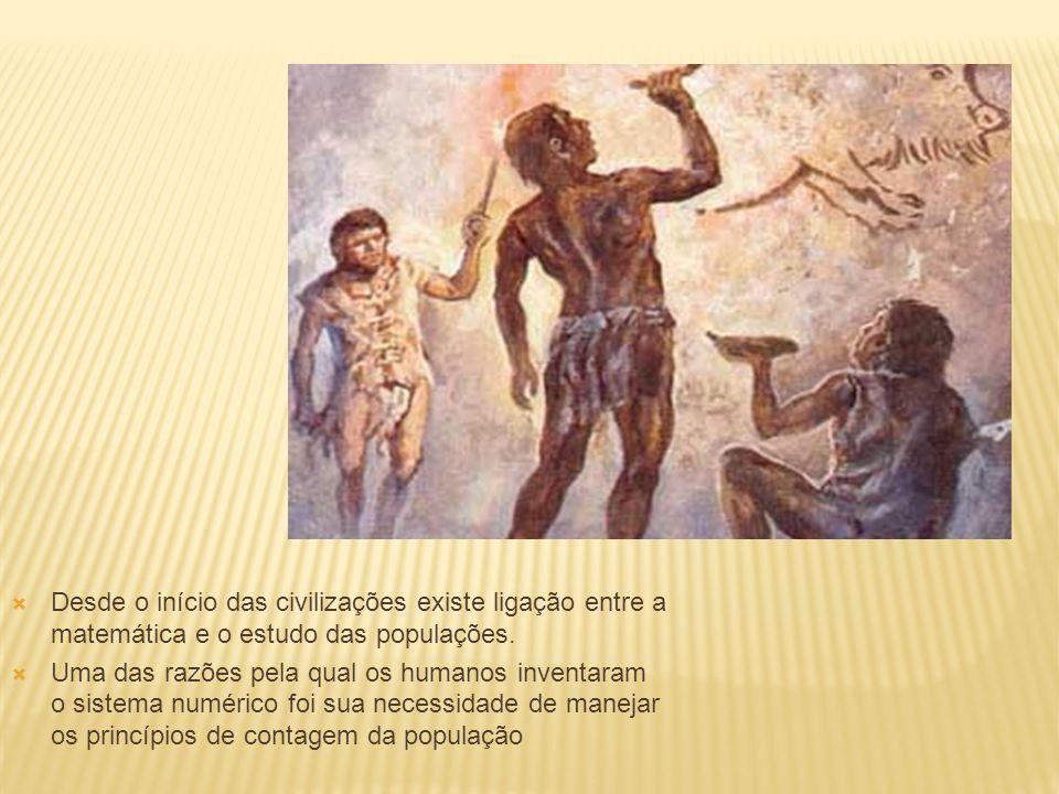Desde o início das civilizações existe ligação entre a matemática e o estudo das populações.