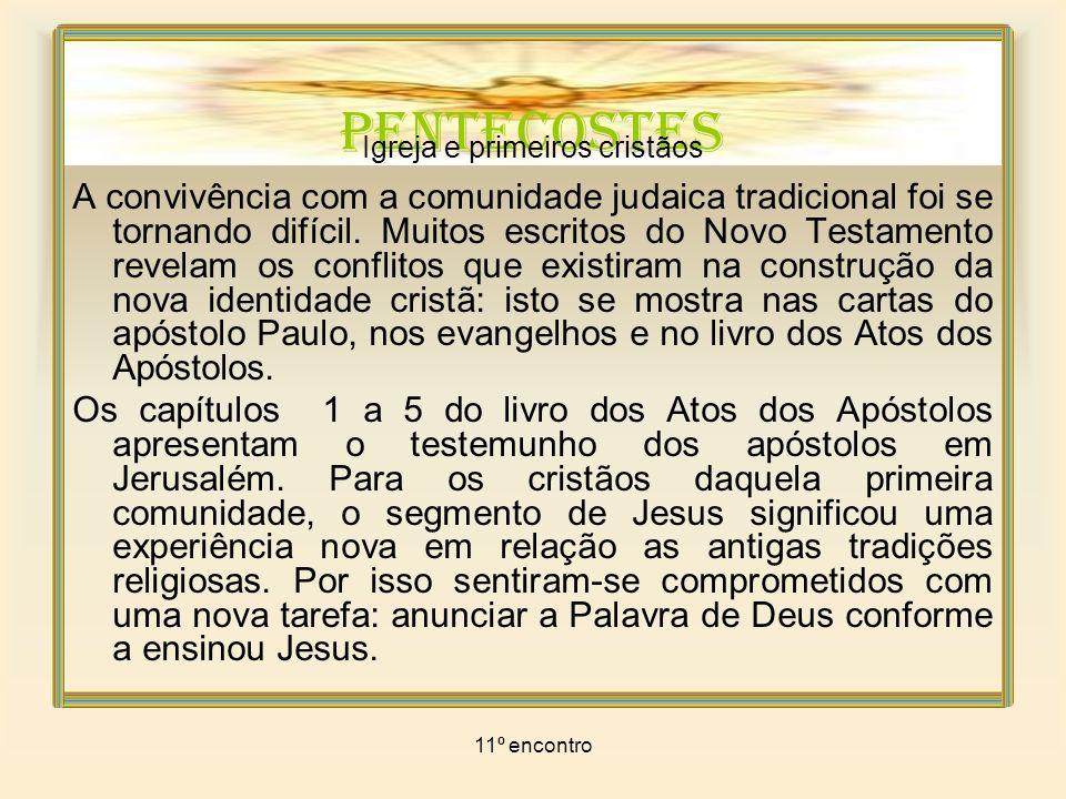 11º encontro PENTECOSTES Igreja e primeiros cristãos A esperança no Messias era muito forte no meio do povo.