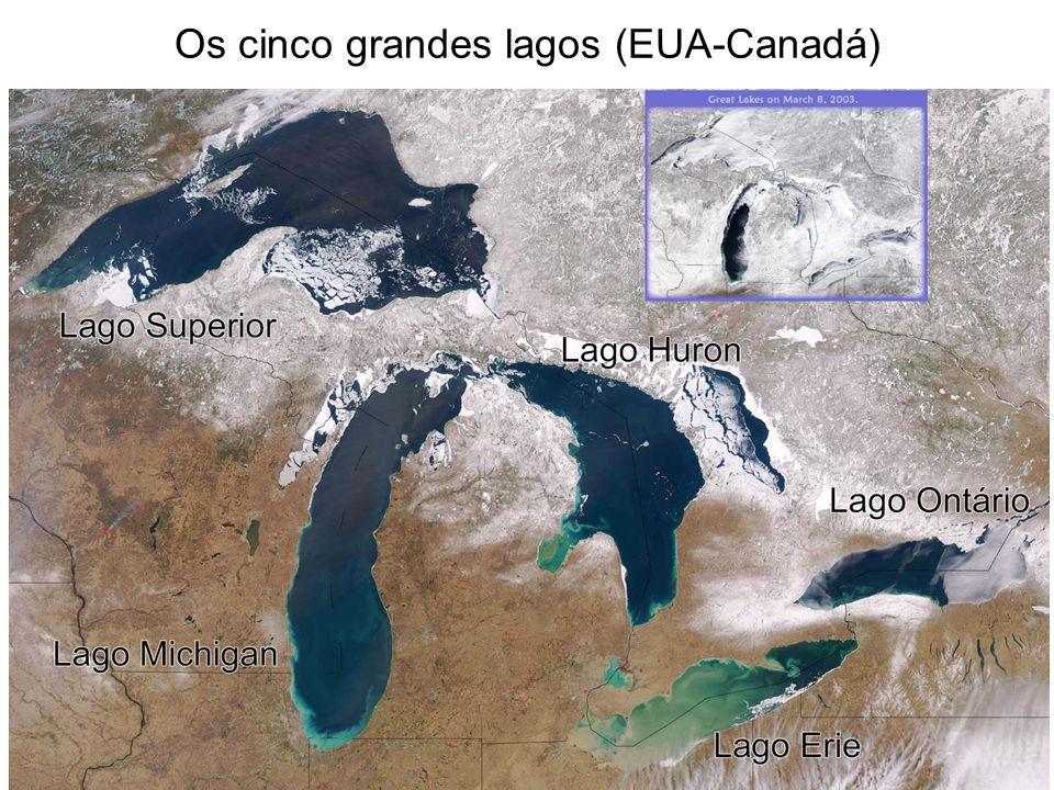 Os cinco grandes lagos (EUA-Canadá)