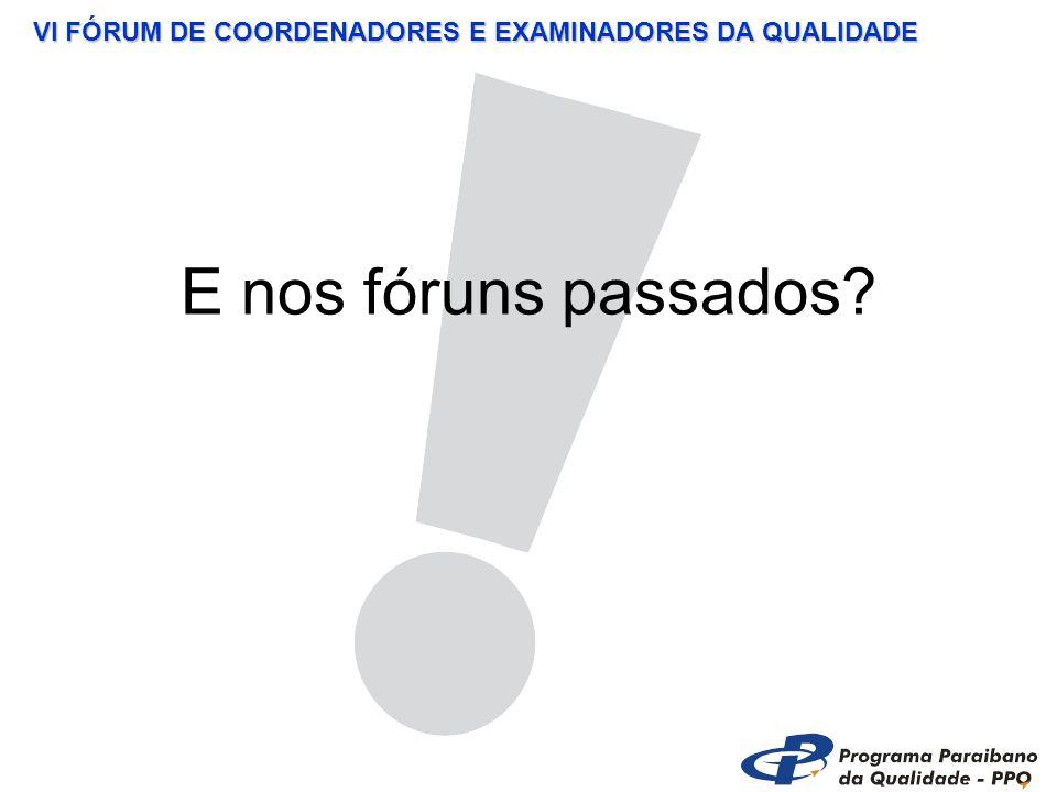 VI FÓRUM DE COORDENADORES E EXAMINADORES DA QUALIDADE CENÁRIO 9 Houve um problema com o seu fornecedor que atua diretamente em um de seus processos.