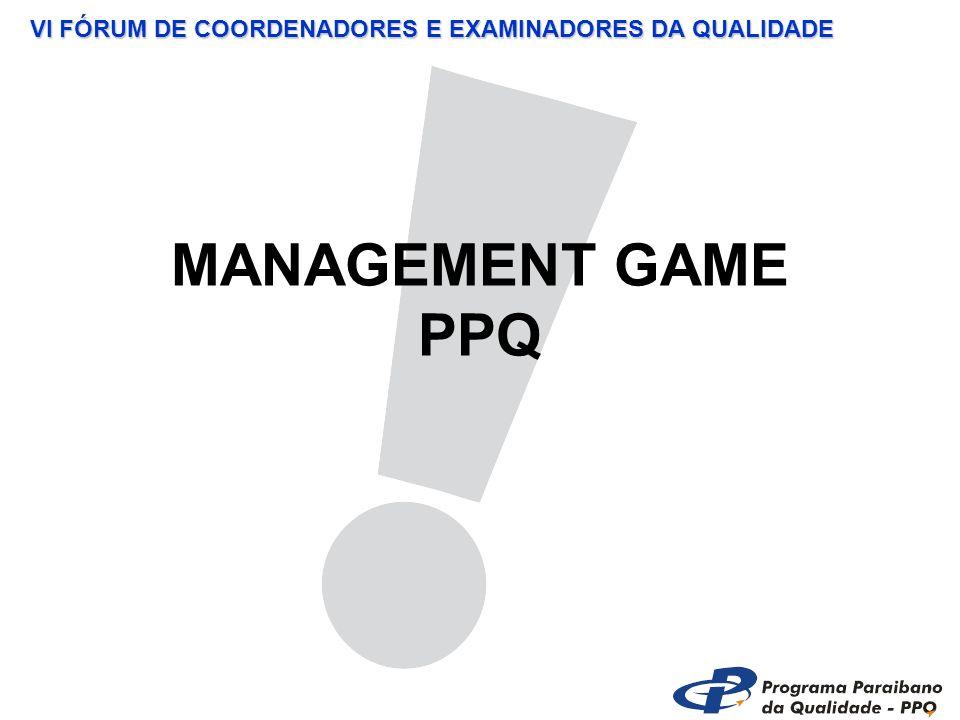 VI FÓRUM DE COORDENADORES E EXAMINADORES DA QUALIDADE MANAGEMENT GAME PPQ