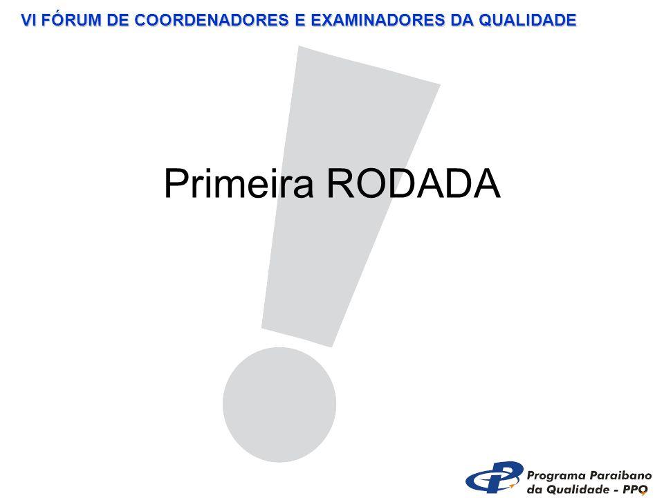 VI FÓRUM DE COORDENADORES E EXAMINADORES DA QUALIDADE Primeira RODADA