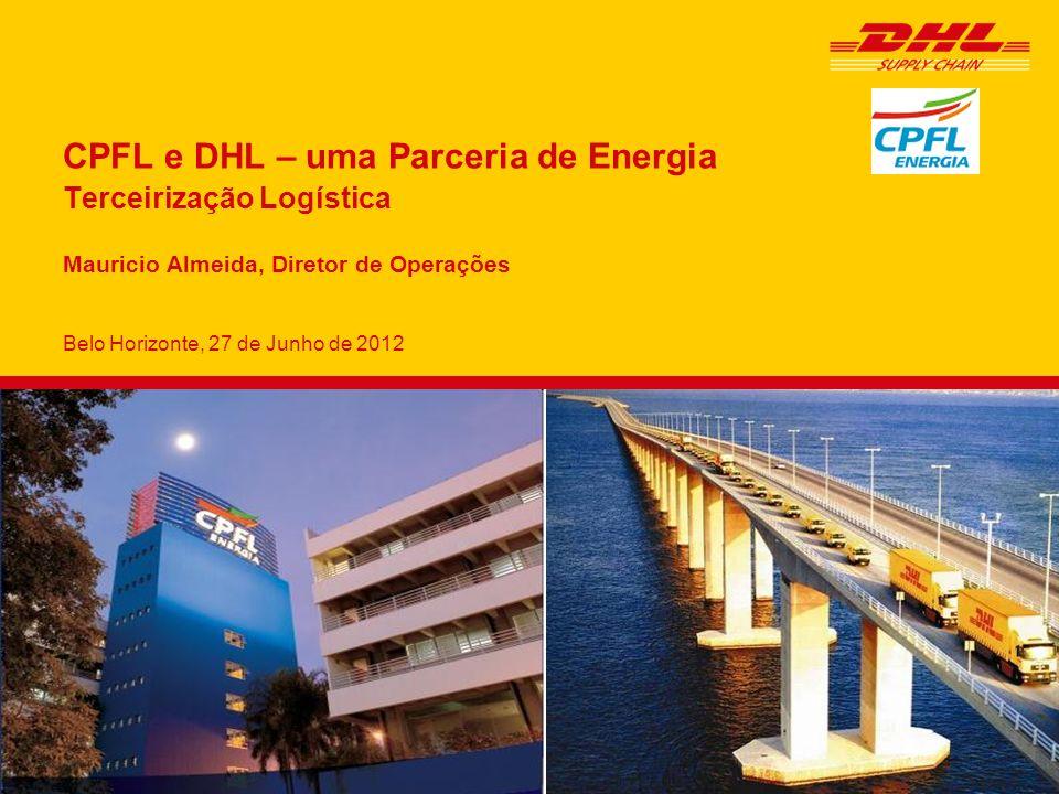 Belo Horizonte, 27 de Junho de 2012 CPFL e DHL – uma Parceria de Energia Terceirização Logística Mauricio Almeida, Diretor de Operações