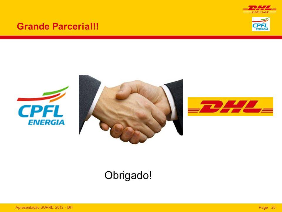 Apresentação SUPRE 2012 - BHPage20 Grande Parceria!!! Obrigado!