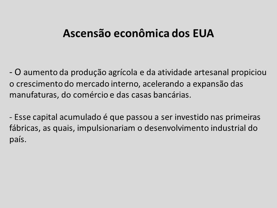 - O aumento da produção agrícola e da atividade artesanal propiciou o crescimento do mercado interno, acelerando a expansão das manufaturas, do comérc