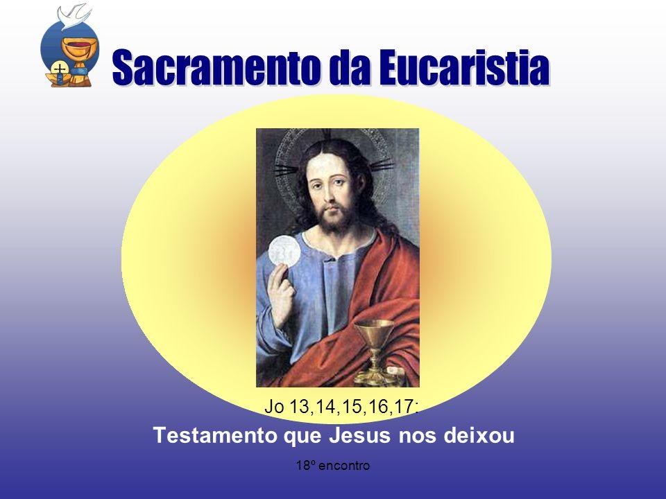18º encontro Jo 13,14,15,16,17: Testamento que Jesus nos deixou
