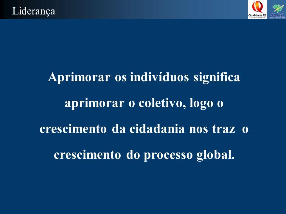 Aprimorar os indivíduos significa aprimorar o coletivo, logo o crescimento da cidadania nos traz o crescimento do processo global.