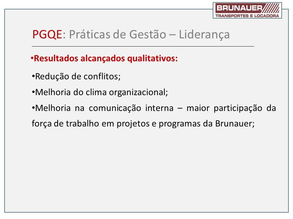 Redução de conflitos; Melhoria do clima organizacional; Melhoria na comunicação interna – maior participação da força de trabalho em projetos e progra
