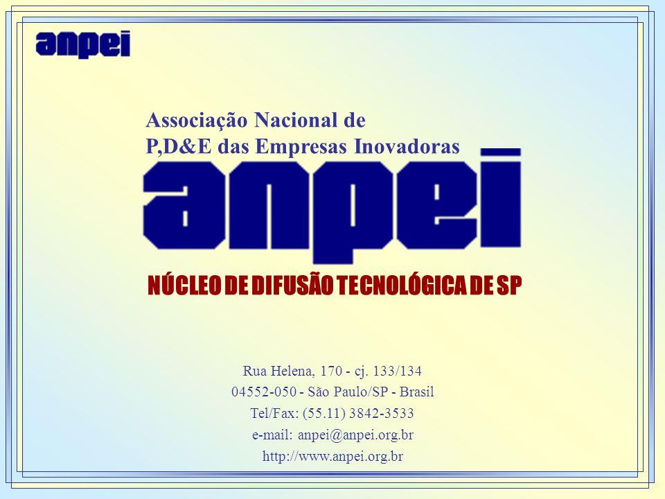 MISSÃO A ANPEI é uma Associação que congrega empresas e instituições dos mais variados setores da economia que tem como convergência a busca da competitividade através da Inovação Tecnológica.