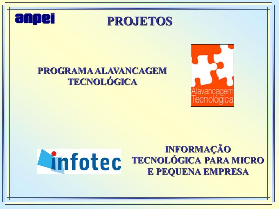 PROJETOS PROGRAMA ALAVANCAGEM TECNOLÓGICA INFORMAÇÃO TECNOLÓGICA PARA MICRO E PEQUENA EMPRESA