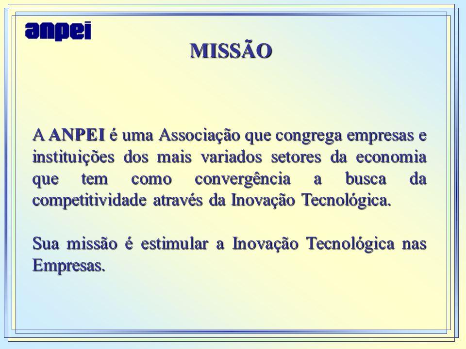 MISSÃO A ANPEI é uma Associação que congrega empresas e instituições dos mais variados setores da economia que tem como convergência a busca da compet