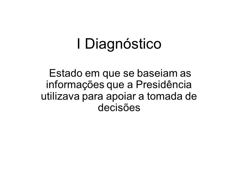 I Diagnóstico Estado em que se baseiam as informações que a Presidência utilizava para apoiar a tomada de decisões