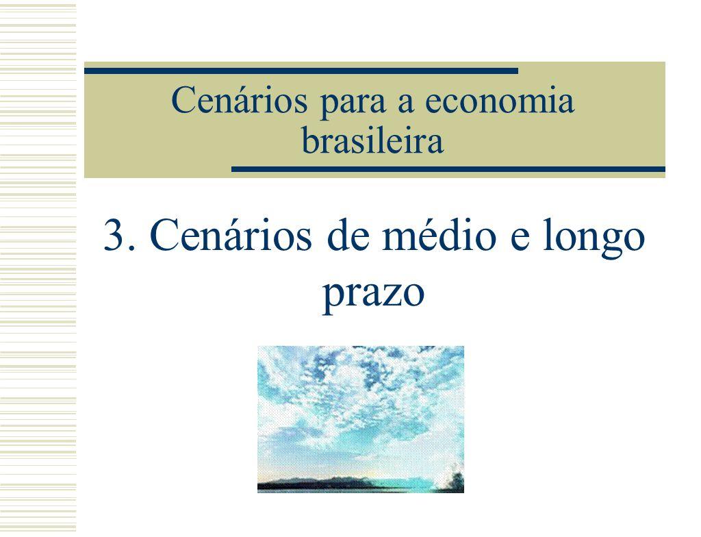 Cenários para a economia brasileira 3. Cenários de médio e longo prazo