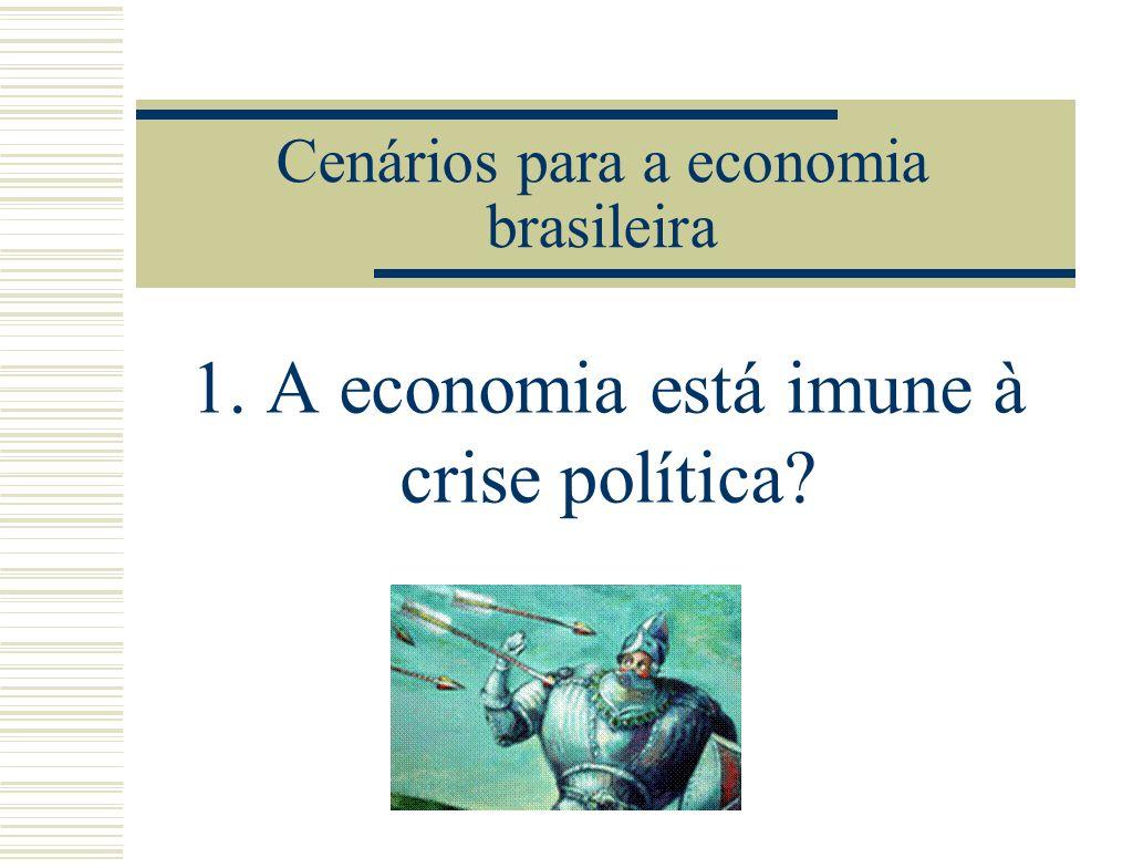 Cenários para a economia brasileira 1. A economia está imune à crise política