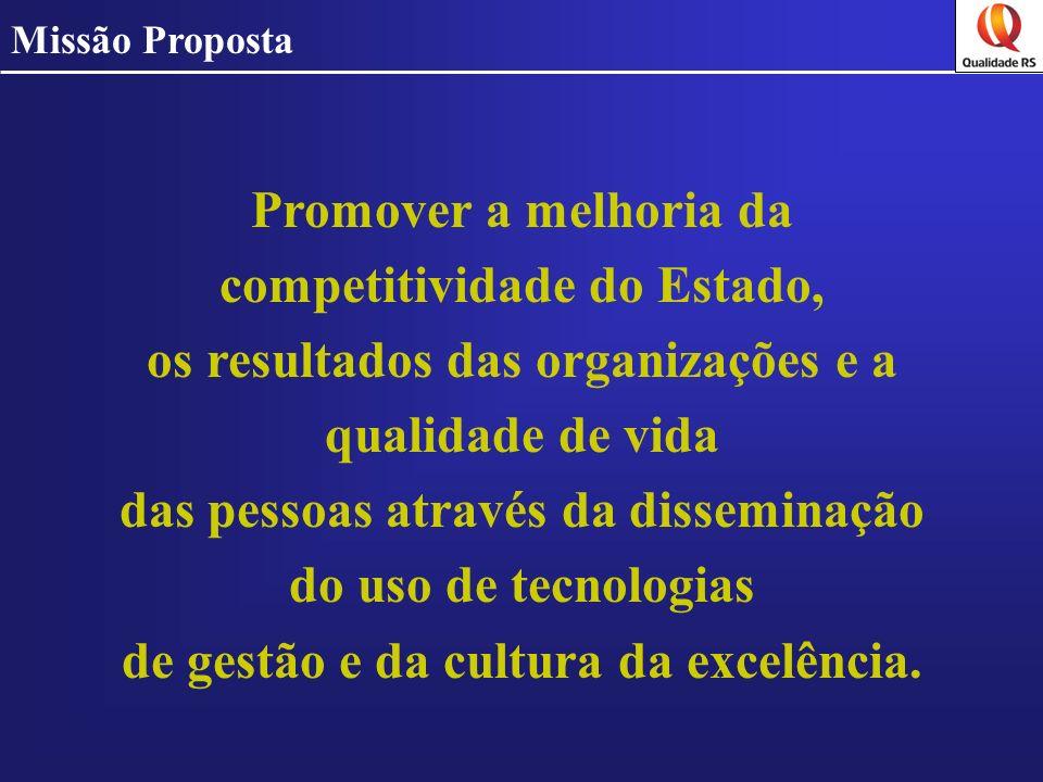 Promover a melhoria da competitividade do Estado, os resultados das organizações e a qualidade de vida das pessoas através da disseminação do uso de t