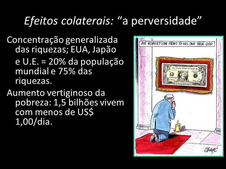 Desnacionalização das economias; as multinacionais eram apenas algumas centenas em 1950. Atualmente são mais de 40 mil.