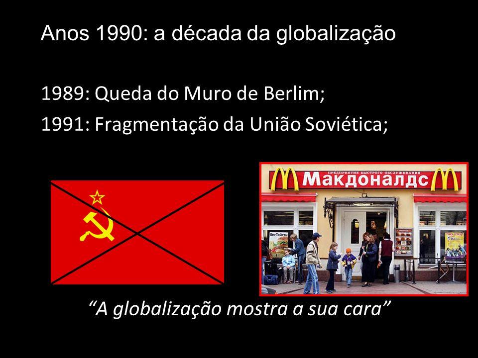 X 1961: URSS no espaço 1969: EUA na lua 1945-89/91: Guerra Fria: a globalização é camuflada