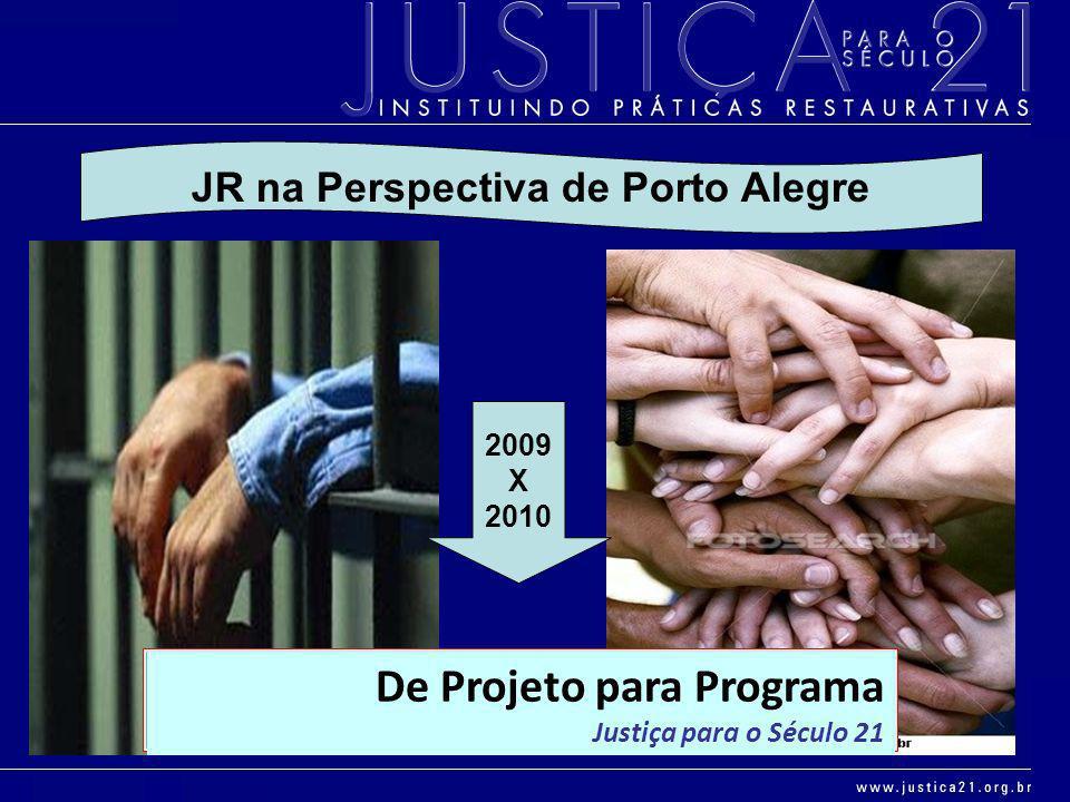 De Projeto para Programa Justiça para o Século 21 2009 X 2010