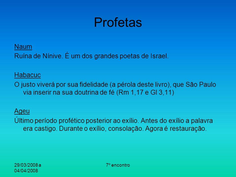 29/03/2008 a 04/04/2008 7º encontro Profetas Naum Ruína de Nínive.