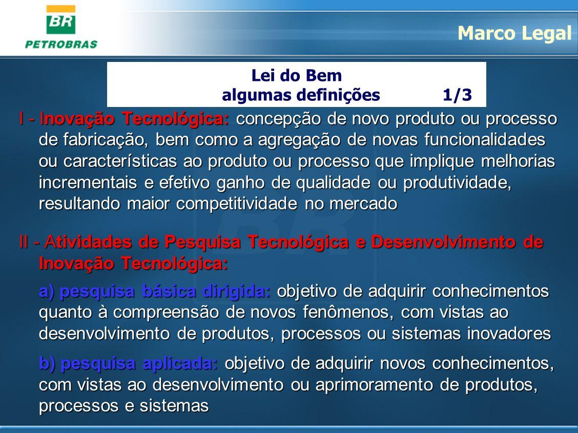 I - Inovação Tecnológica: concepção de novo produto ou processo de fabricação, bem como a agregação de novas funcionalidades ou características ao pro