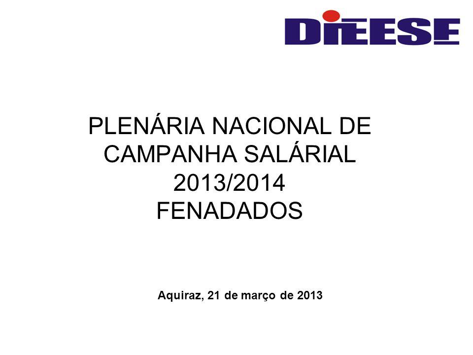 PLENÁRIA NACIONAL DE CAMPANHA SALÁRIAL 2013/2014 FENADADOS Aquiraz, 21 de março de 2013