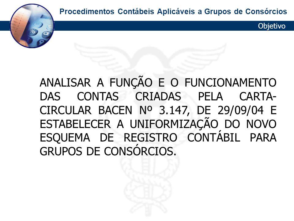 Procedimentos Contábeis Aplicáveis a Grupos de Consórcios Cadoc.