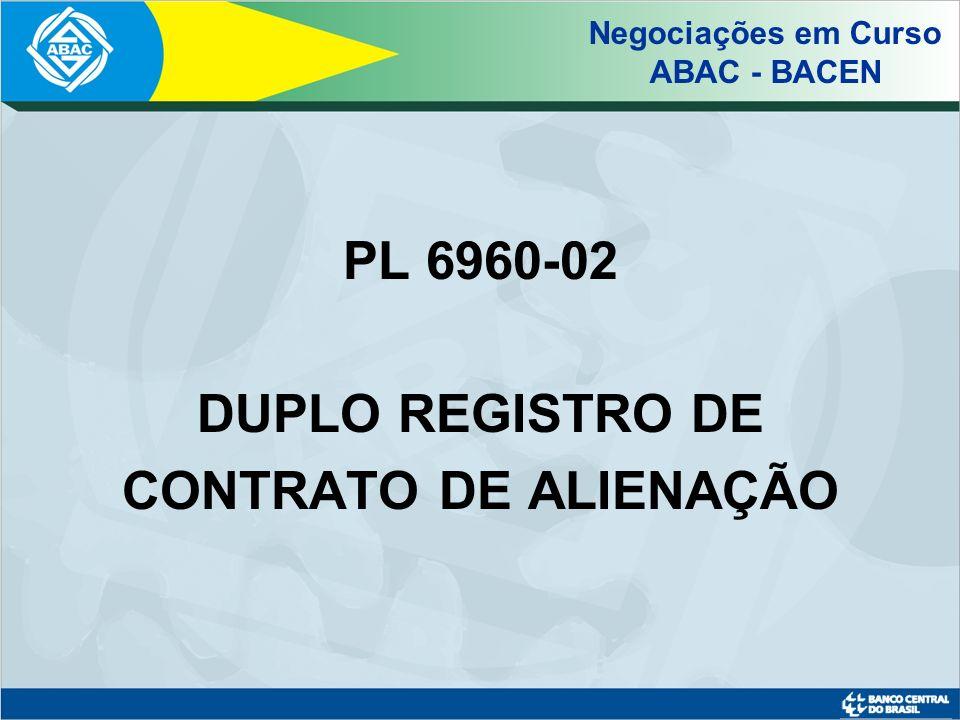 Revisão dos critérios de definição do número de participantes na constituição de grupo de consórcios Negociações em Curso ABAC - BACEN