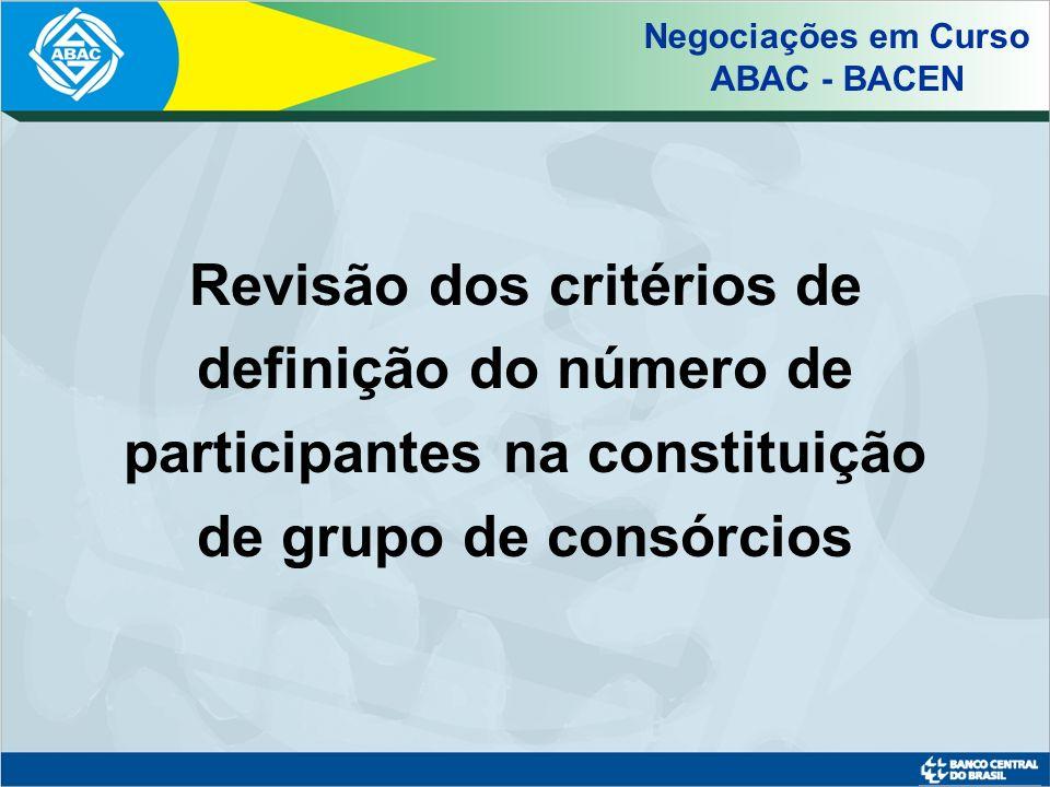 Critério Atual Circular nº 2.766/97 (Regulamento anexo) Art.