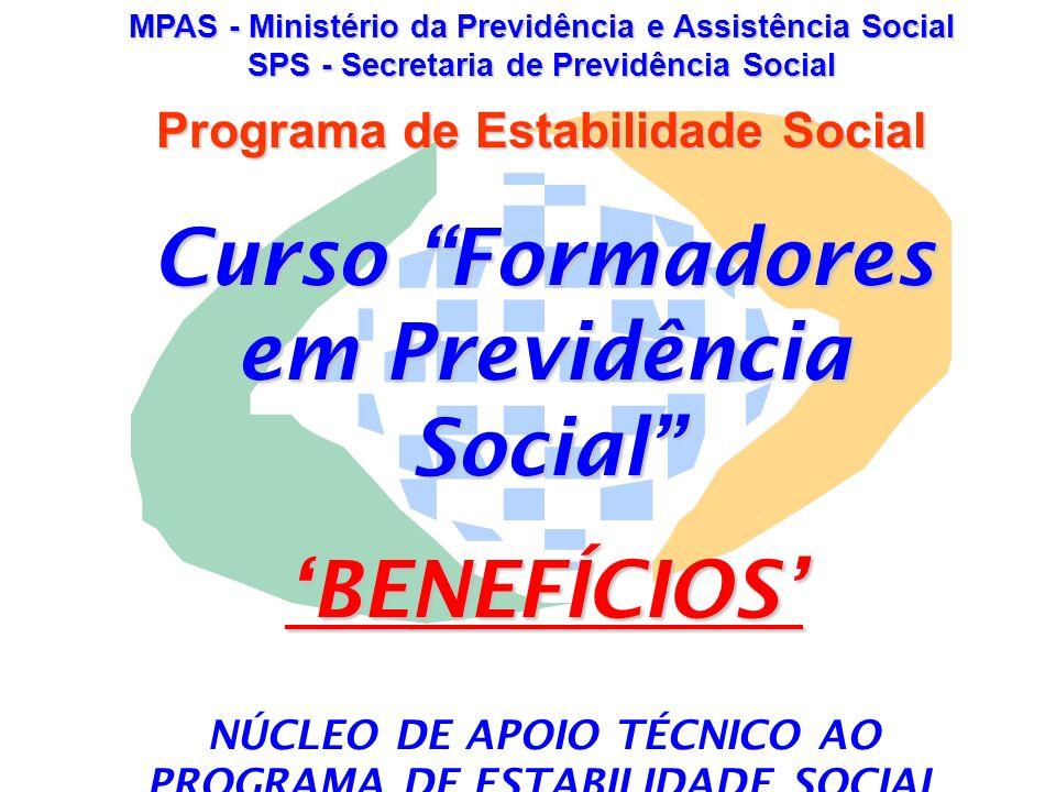 APOSENTADORIA POR TEMPO DE CONTRIBUIÇÃO Benefício devido ao segurado que completar um período mínimo de contribuição ao sistema previdenciário.