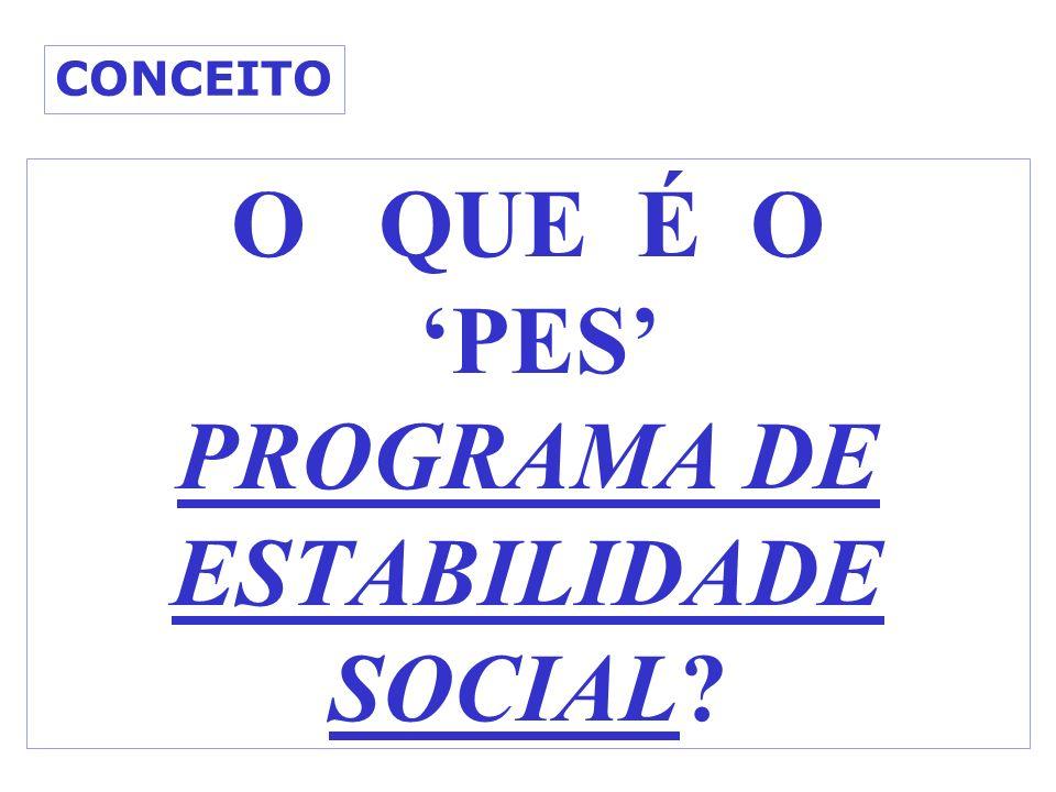 O QUE É O PES PROGRAMA DE ESTABILIDADE SOCIAL? CONCEITO