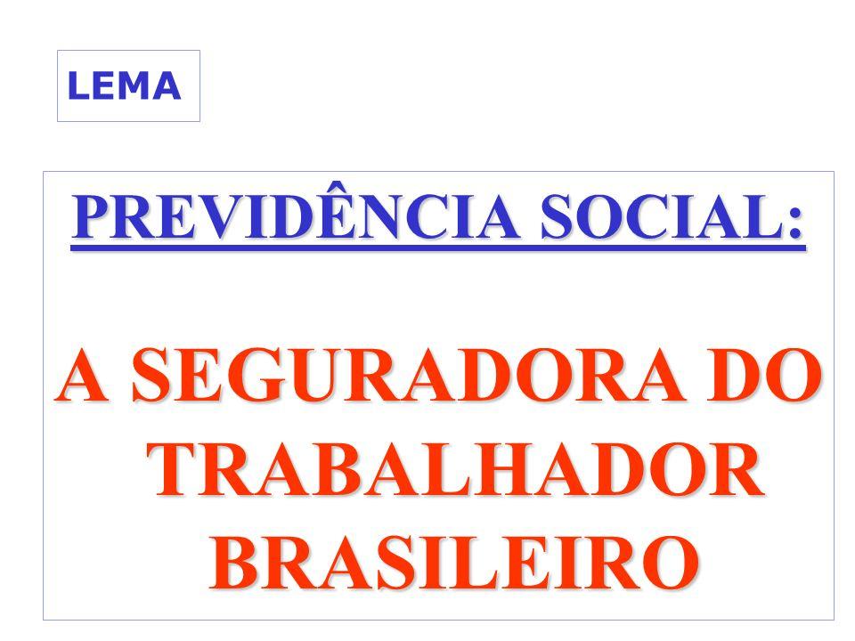 LEMA PREVIDÊNCIA SOCIAL: A SEGURADORA DO TRABALHADOR BRASILEIRO