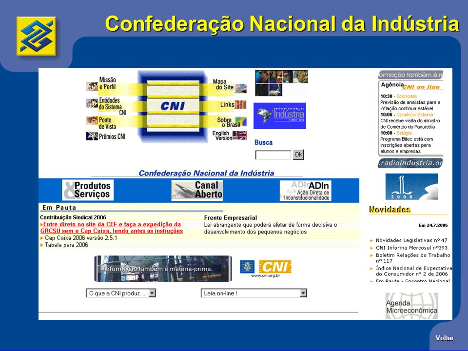 Confederação Nacional da Indústria Voltar