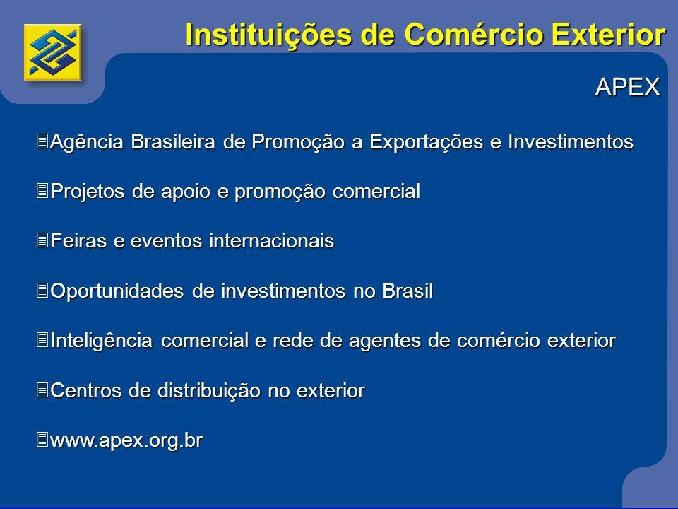 APEX 3Agência Brasileira de Promoção a Exportações e Investimentos 3Projetos de apoio e promoção comercial 3Feiras e eventos internacionais 3Oportunid