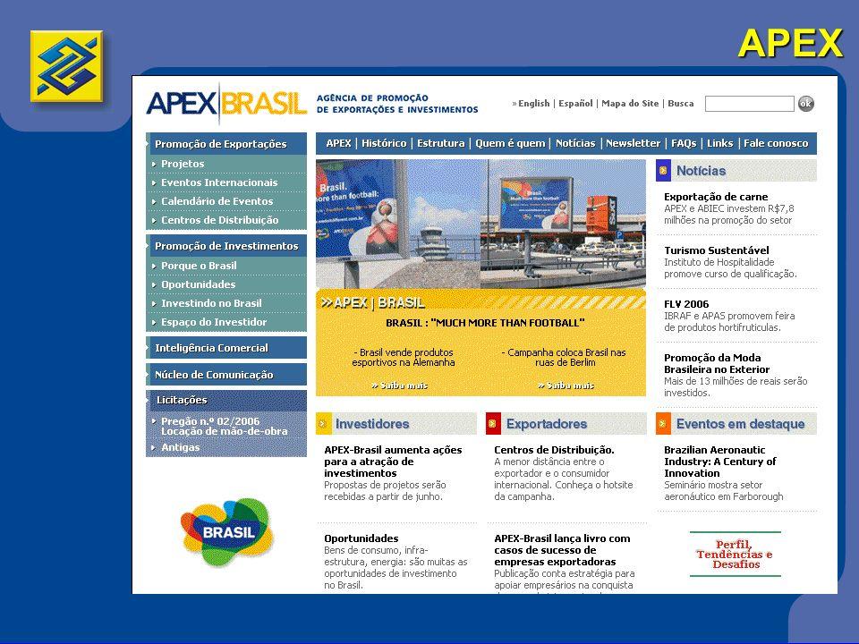 MDIC/SECEX 3A Secretaria de Comércio Exterior do Ministério do Desenvolvimento Indústria e Comércio Exterior responde pela execução da política de comércio exterior a nível governamental formulada pela CAMEX (Câmara de Comércio Exterior) 3Sistema de Análise das Informações de Comércio Exterior via Internet, denominado ALICE-Web Portal do Exportador/Vitrine do Exportador/Radar comercial Portal do Exportador/Vitrine do Exportador/Radar comercial 3www.desenvolvimento.gov.br/sitio/inicial/index.php Instituições de Comércio Exterior