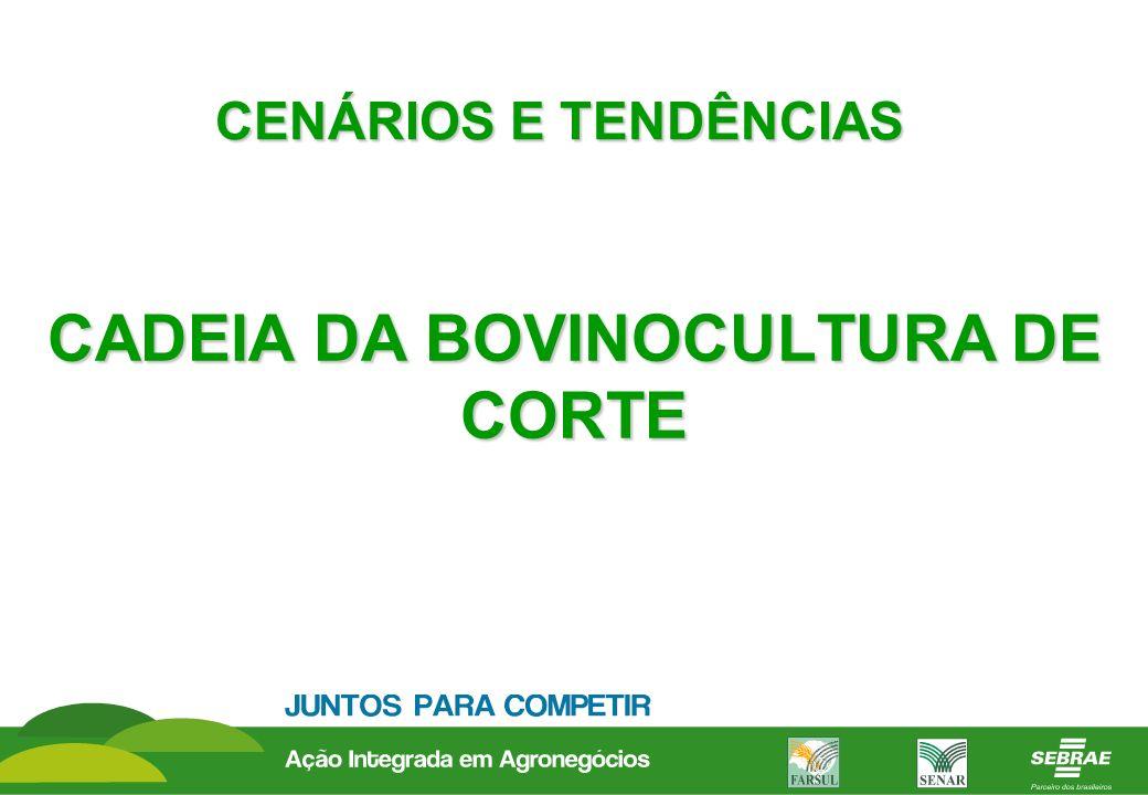 CADEIA DA BOVINOCULTURA DE CORTE CENÁRIOS E TENDÊNCIAS