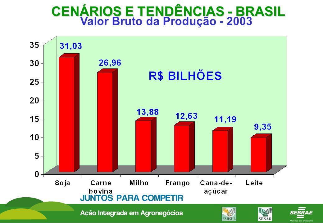 CENÁRIOS E TENDÊNCIAS - BRASIL Valor Bruto da Produção - 2003